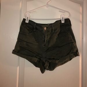 pacsun army green shorts